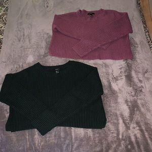 FOREVER 21 Cropped Sweaters